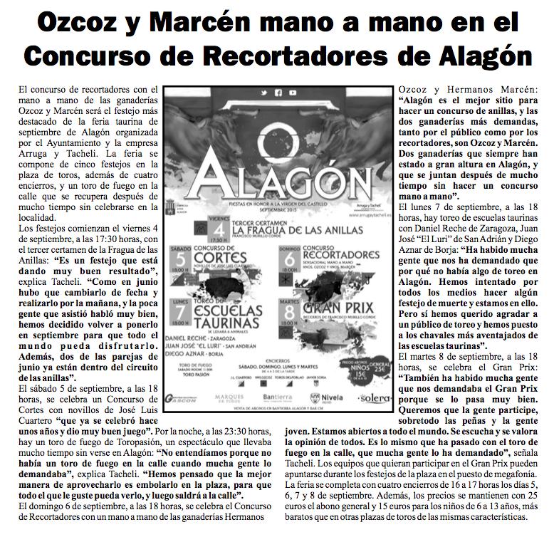 Ribera 2000 Alagón 2015