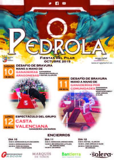 Cartel Pedrola Octubre 2015